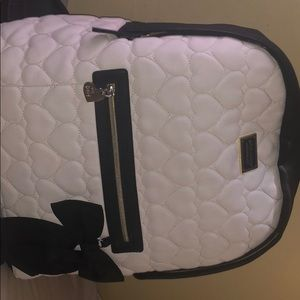 Black and white Betsey Johnson backpack